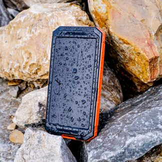 Solar Power bank on rocks